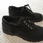 Школьные кожаные туфли оксфорды 33р, очень стильные