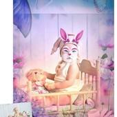 Детская цифровая Открытка в стиле Пасхальный Зайчик, как в примерах.