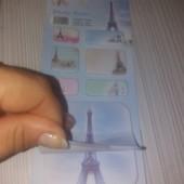 стикеры-закладки-пастель.Клейкие закладки.Париж