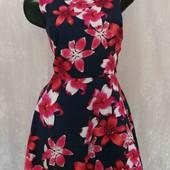 платье с цветочным принтом -хлопок