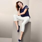 Классические джинсы с вышивкой длиной 7/8 от Tchibo (Германия), размер 40 евро
