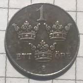 Монета Швеции 1 эре 1948