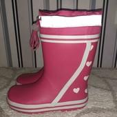 Резинові чобітки на дівчинку,розмір30