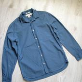 Рубашка мужская H&M Regular. Серо-голубая. грудь 56 см