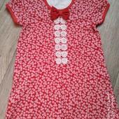 Платье девочке,100%хлопок-интерлок
