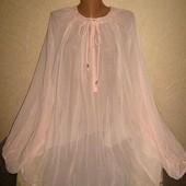 Шикарная летняя блуза пог 80 Next натуральная ткань