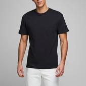 Распродажа! Черная свободная футболка датского бренда Jack & Jones Core, размер S