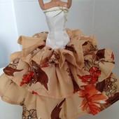 Платья, комплекты для кукол типа Барби. УП-5%