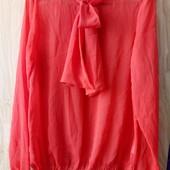 Красивая шифоновая блузка с завязками