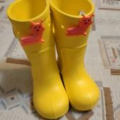 Детские жёлтые сапоги 13 см