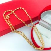 супер! очень красивая и нежная цепочка, плетение французская косичка 50 см, позолота 585 пробы