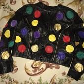 Крутой бомбер кожаная куртка супер классная