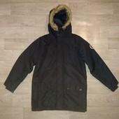 Демисезонная удлиненная куртка на 13-14л