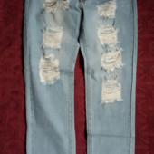 Качественные джинсы-рванки, размер 29