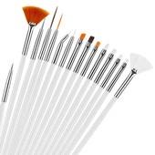 15 шт! Набор кистей для дизайна ногтей