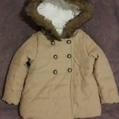 Деми пальто для девочки 9-12 месяцев