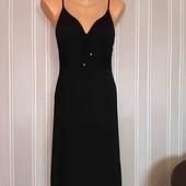 Платье черное миди stefany италия сарафан размер s m l