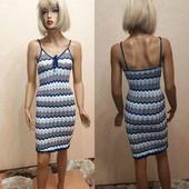 Очаровательное платье , машинная вязка .р 10 uk смотрим замеры