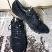 туфли черного бархата.25.5 см