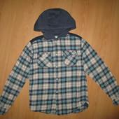Отличное состояние! Стильная рубашка-ковбойка на 12-13 л и р 152-158 см!
