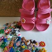 Яркие, красочные джибитсы -украшение для Crocs и аналогов. В лоте 1пара, Укрпочта по скидке.