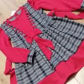 Готовим подарки.Красивое качественное трикотажное платьице для девочек