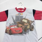 Стоп!! Фирменная удобная яркая натуральная футболка от Disney