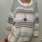 На пышные формы! Красивая мягенькая нежная тепленькая кофточка свитер р.20-22 Новая Акция читайте