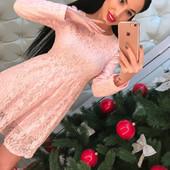 распродажа новое!! платье приталенного кроя из качественного кружева фабричный Китай