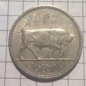Монета Ирландии 1 шиллинг 1964