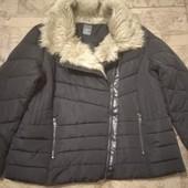 Фирменная куртка пуховик р.XL