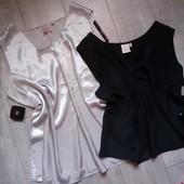 Классная блуза большой размер батал цвет на выбор лот 1 шт серебристая длиннее чем черная