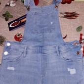 Супер стрейчевый джинсовый комбез 14-16 лет смотрите замеры