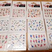 10 листів наклейок для нігтів