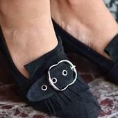 Женские туфли на низком каблучке