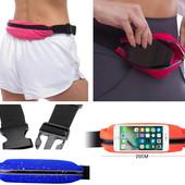 Сумка - пояс для спорта, сумка для бега, сумка спортивная на пояс водонепроницаемая на молнии
