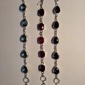 Роскошные браслеты из низкопроб.серебра,покрытые серебром 925 с натуральными камнями,один на выбор
