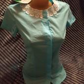 Нарядна літня блуза з коротким рукавом.. Мегарозпродаж!!!