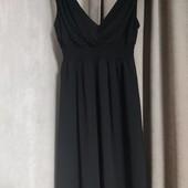 Бредовое Платье вечернее чёрное, flower by charm's paris v вырезом новое