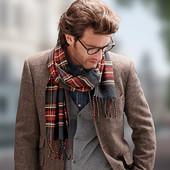 ☘ Стильний картатий шарф від Tchibo (Німеччина), розмір універсальний