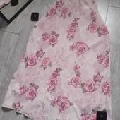 Очень нежная юбка в розы имитация кружева батал большой размер
