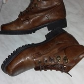 Кожанные ботинки. Слелька -22,5 см. Демисезон.