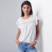 Качественная блуза с кружевной вышивкой от ТСМ Tchibo размер евро 48\50 (укр 54\56)