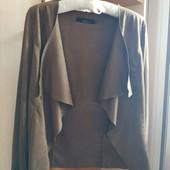 новая куртка/кардиган Only р.S(36) 88%полиэстр+12 эластан под замшу (сток на дефекты проверено)