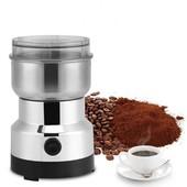 Кофемолка.полностью нержавеющий корпус! для измельчения кофе, орехов, сухих бобов и зерновых культур