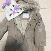 Курточка фірмова на весну на 1-2 рочки і шапочка
