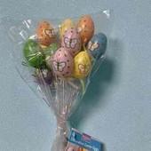 декоративные яйца на палочке на Пасху
