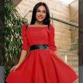 Новое нарядное платье.Цвет аллый р.xs-s