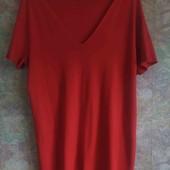 Туника, длинная футболка/платье большого размера