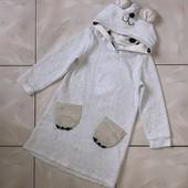 Стоп !❤мишка,теплое фирменное худи-платье-кигуруми,4 -6лет❤ Много лотов!